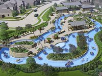 Developer Hines' 1,100-acre Wildflower Ranch residential community will include a lazy river water feature for residents.