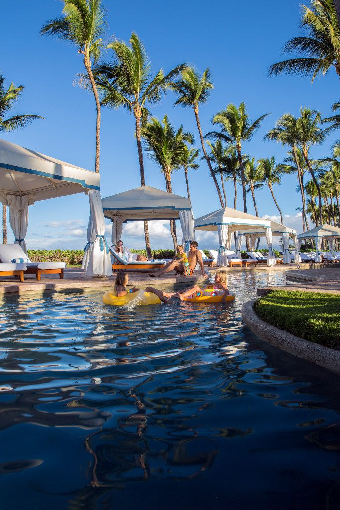 The lazy river at the Grand Wailea resort in Maui, Hawaii