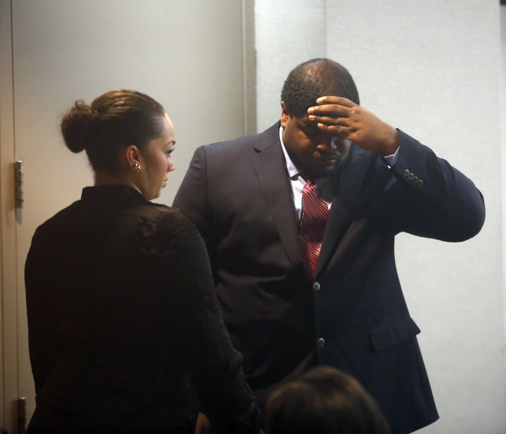 Dallas Cowboys player Josh Brent stood trial for intoxication manslaughter at the Frank Crowley Courts Building in  Dallas in January 2014.