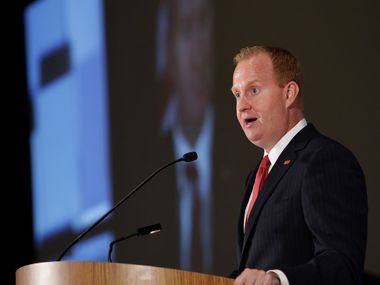 Frisco Mayor Jeff Cheney gave his annual State of the City address during a Frisco Chamber of Commerce luncheon at the Embassy Suites  on Tuesday.