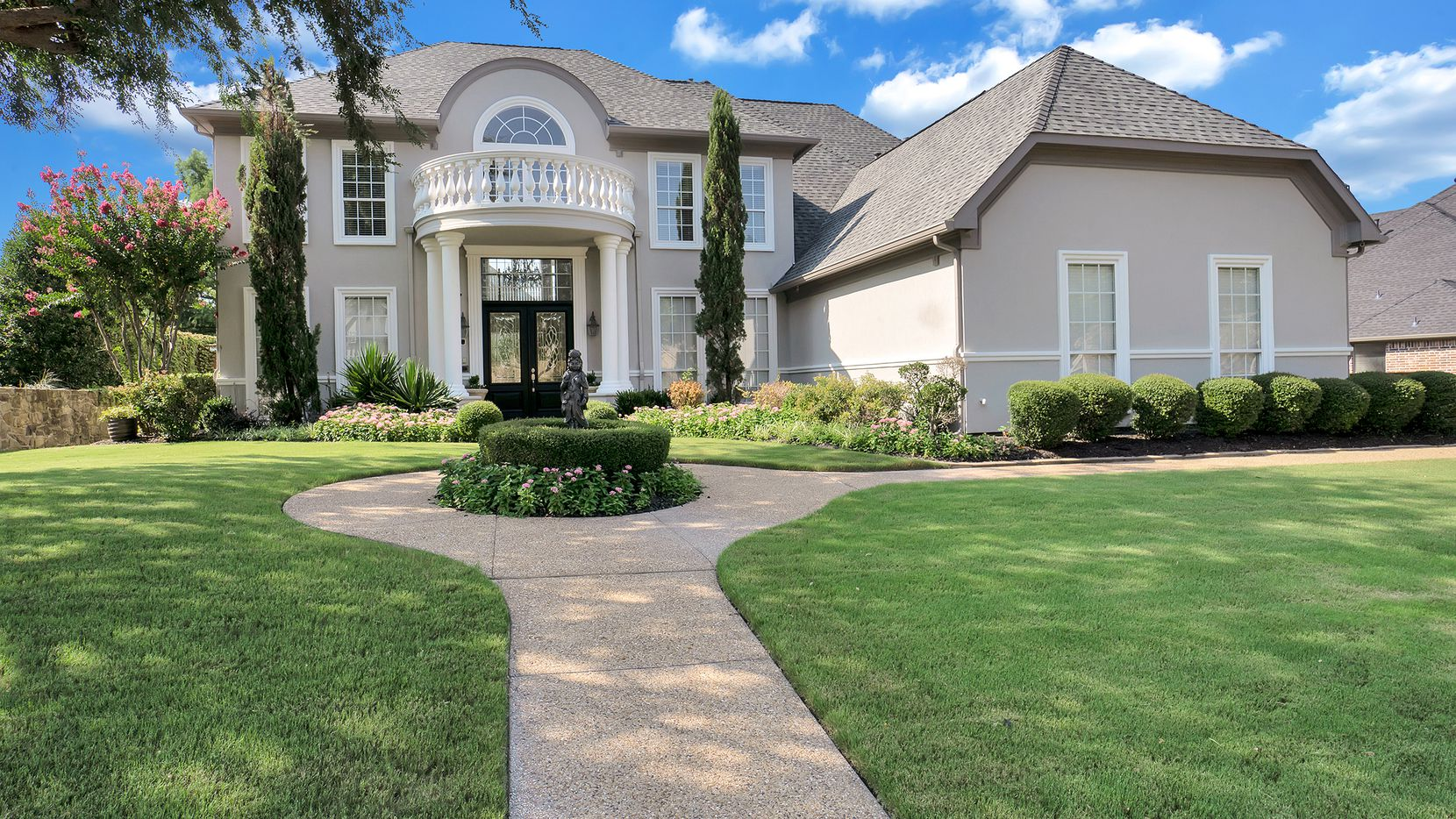 Listed at $799,000, the four-bedroom home at 723 Starlight Pass in Buffalo Creek has game and media rooms, a pool, summer kitchen and covered patio.