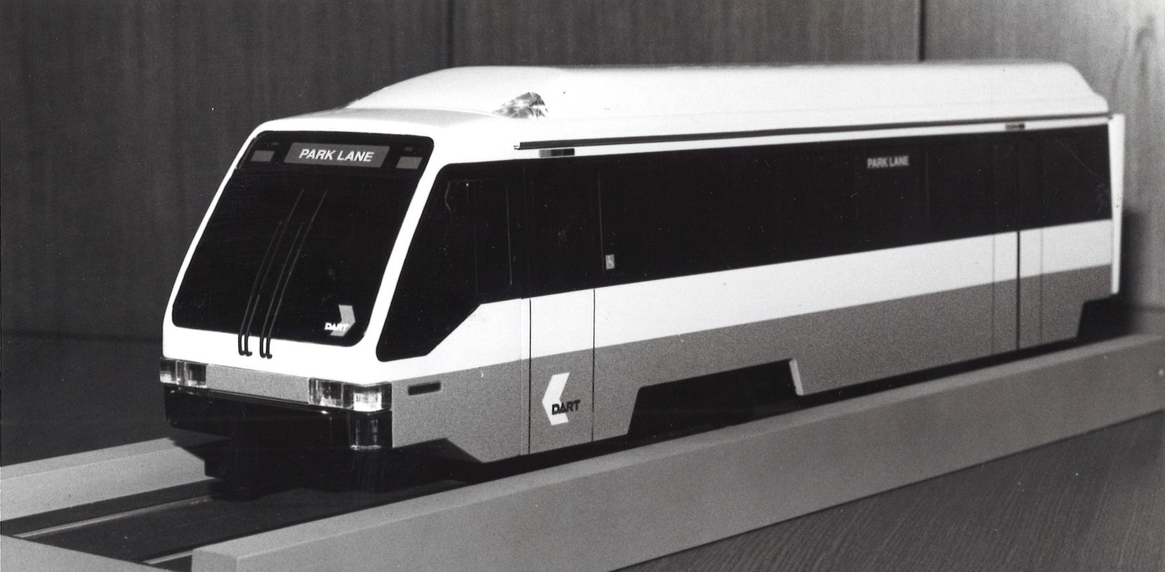 The new DART train revealed at the DART Press Conference in 1990.