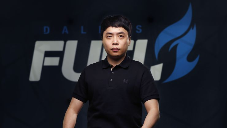 Dallas Fuel Overwatch League head coach poses for a photo at Envy Gaming Headquarters in Dallas, Monday, March 29, 2021.