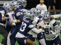 Cowboys' practice at the Ford Center in Frisco on Wednesday, October 27, 2021.