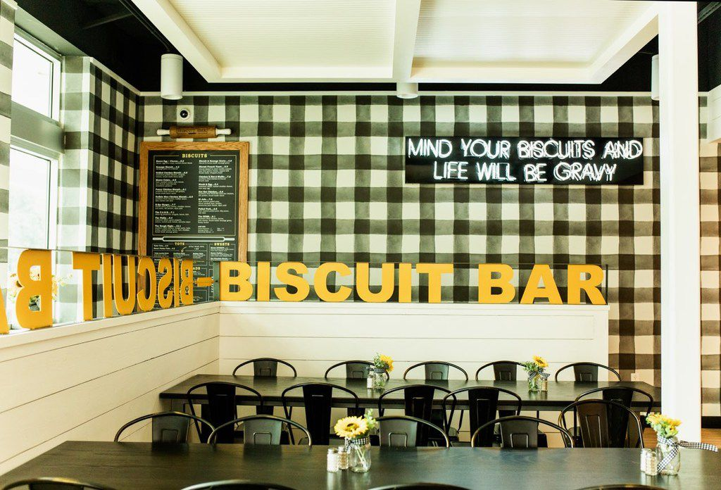 The Biscuit Bar opened on Hillcrest Avenue in Dallas, near SMU, in May 2019.