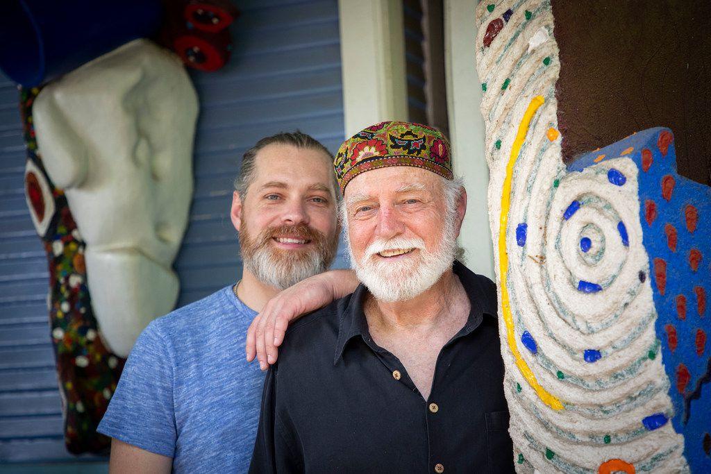 Artists Devin McCullough and his father, David McCullough.