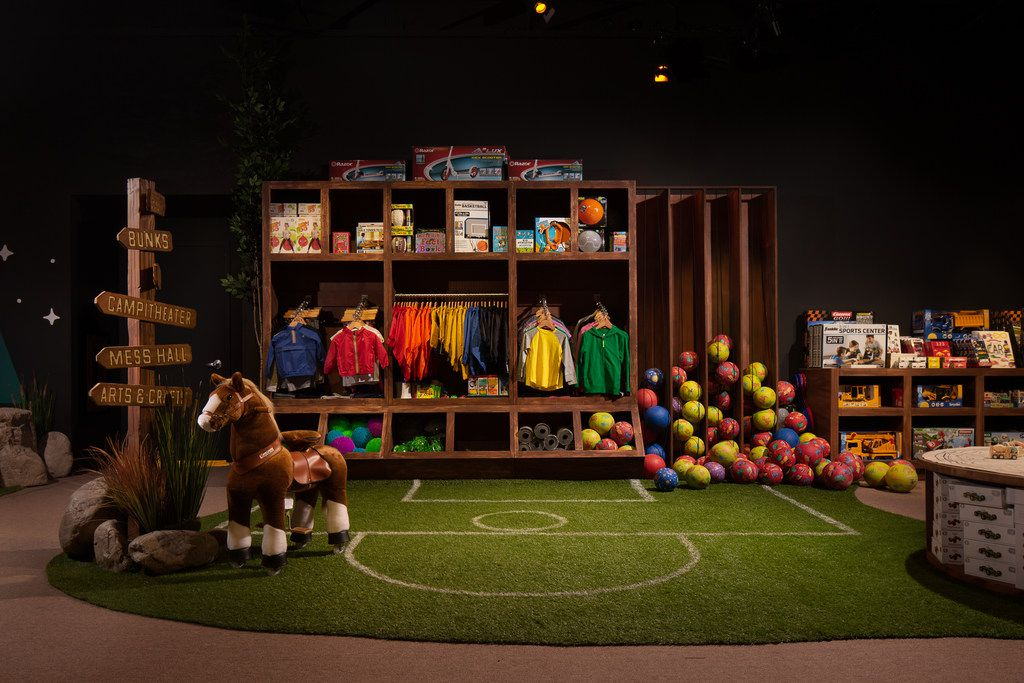 The Camp store is set up so that families can play with merchandise before buying it. The New York-based retailer is opening only its second store in Dallas in fall 2019.