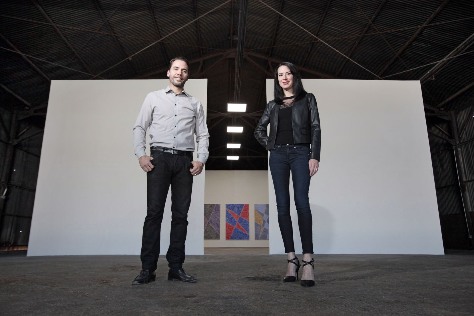 Jason Koen and Nancy Koen at their art project space they co-founded in 2016 called The Box Company.