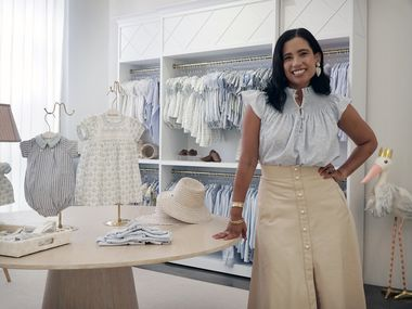 Catalina Gonzalez says her clothing line, Dondolo, sprang from a desire to cultivate a business that gave back to children, mothers and their communities.