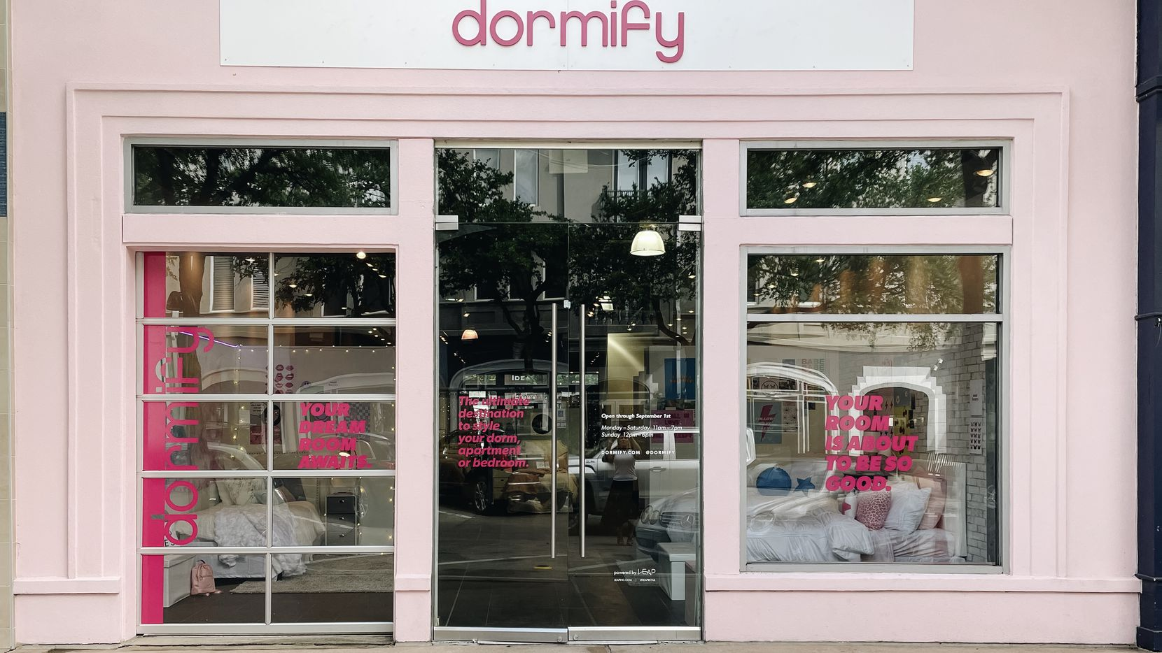 The West Village pop-up is Dormify's first store in Dallas.