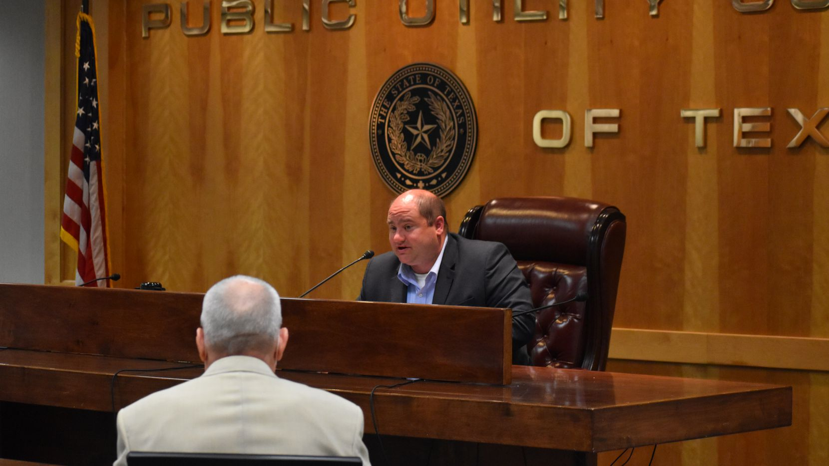 Ousted Public Utility Commission chairman Arthur D'Andrea will serve as chair until he is replaced by Gov. Greg Abbott. All three members were forced to resign.