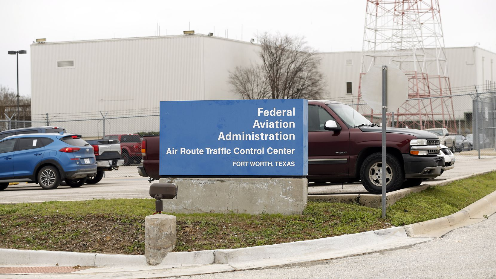 The main entrance to FAA's Fort Worth Air Route Traffic Control Center