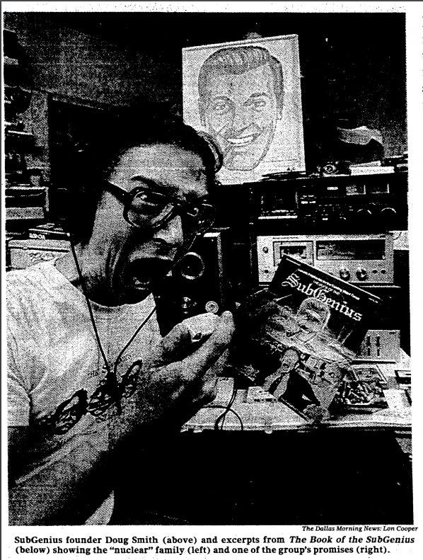 Snip from the August 31, 1983 article about the Church of the SubGenius.