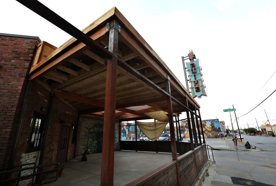 Ruins, a bar in Deep Ellum, is closed temporarily while its employees get tested. As of June 24, none of its employees had tested positive for COVID-19, but each had been exposed to someone who was infected.
