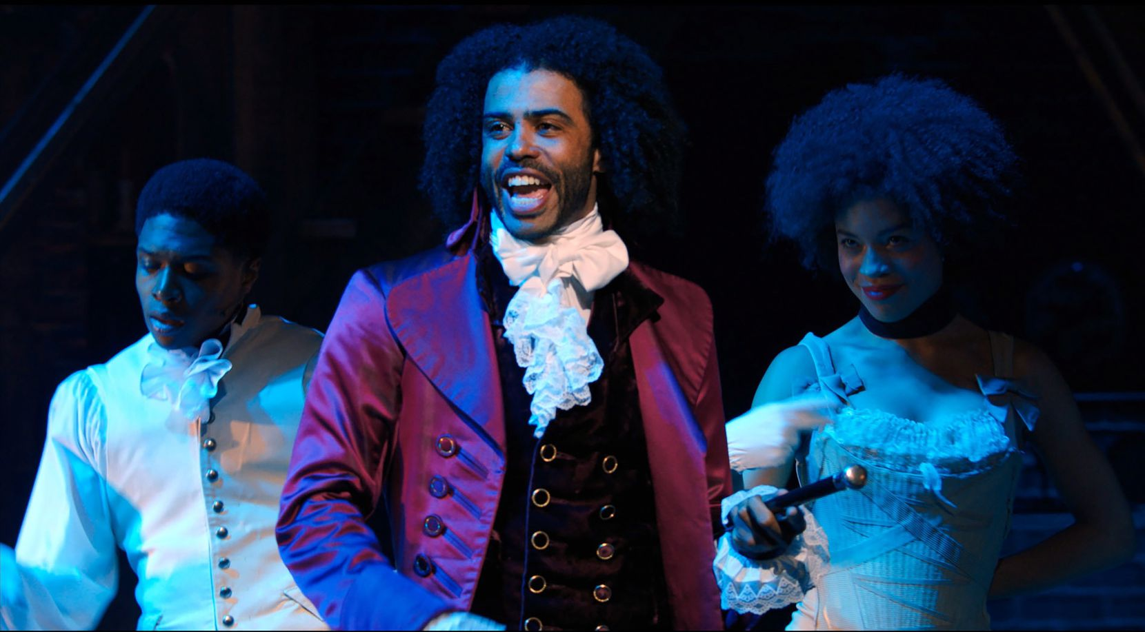 "Daveed Diggs portrays Thomas Jefferson in ""Hamilton."""