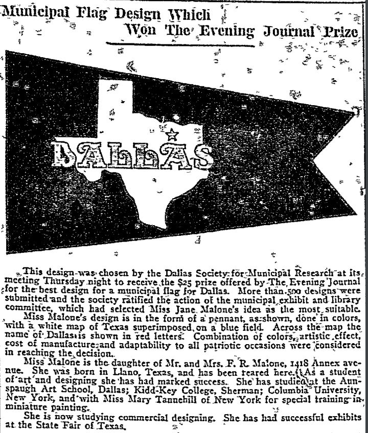 From The Dallas Evening Journal on March 11, 1916.