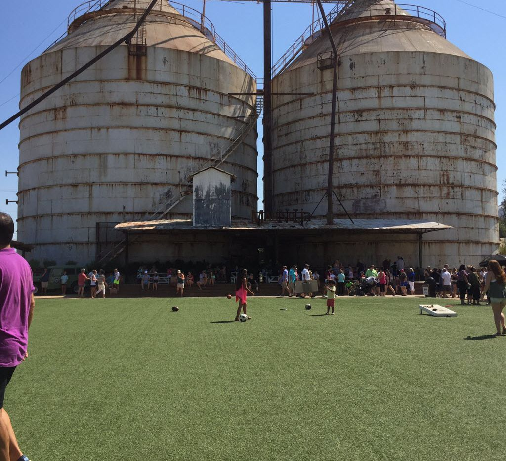 The yard at Magnolia Market at the Silos in Waco.