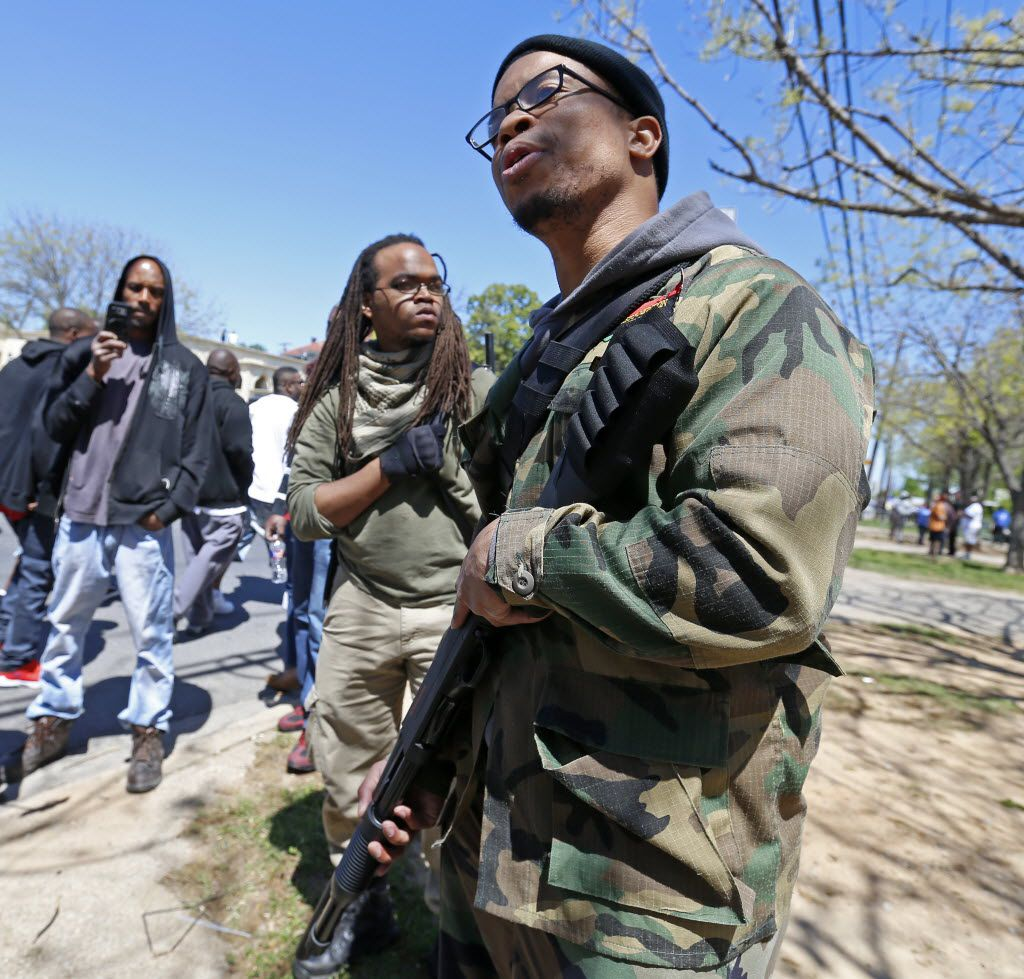 Yafeuh Balogun attended a counterprotest against the anti-Muslim demonstration on Martin Luther King Boulevard in Dallas on, April 2, 2016.