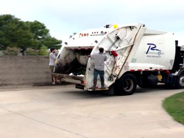 Richardson crews are shown working on trash collection in a video shared by the city.