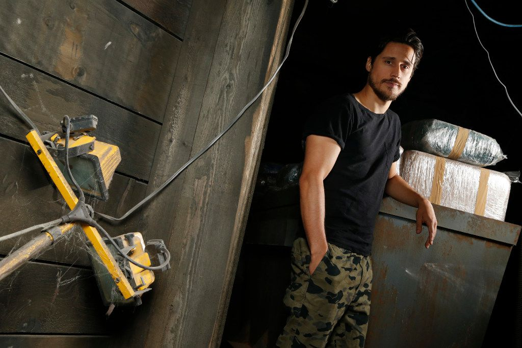 "Peter Gadiot hangs out in the tunnel on the set of ""Queen of the South"" at South Side Studios in Dallas."