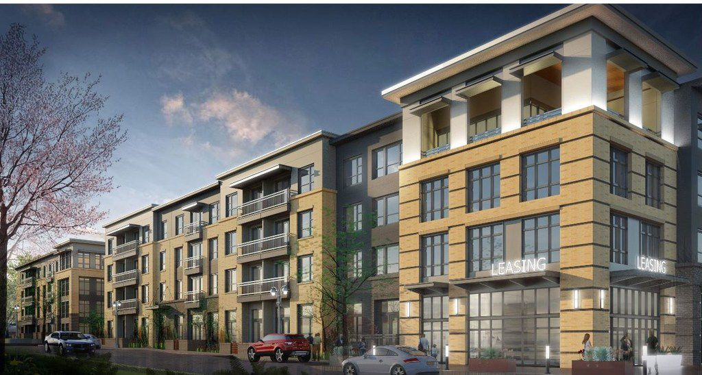 This rendering shows how the project was envisioned from the corner of Main Street and Anna Drive.