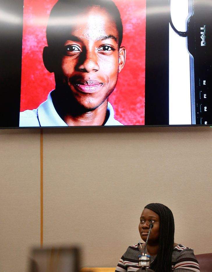 Charmaine Edwards testified Thursday about her son Jordan Edwards during the first day of Roy Oliver's trial.