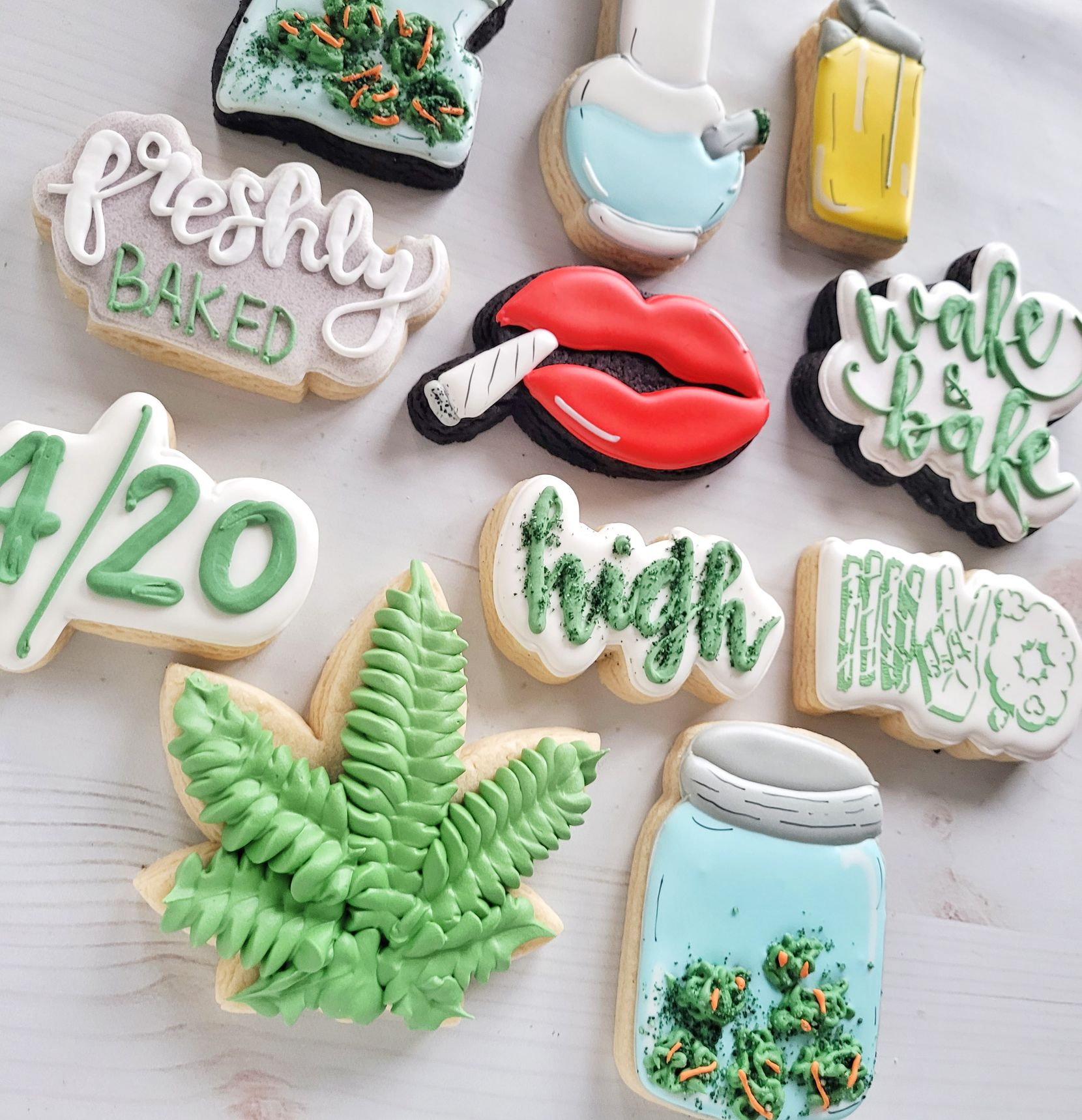 """Chrysta Miller bakes all kinds of cookies for all occasions, but she's best known for her """"inappropriate cookies"""" online, which include phallic-shaped biscuits. (Courtesy Chrysta Miller)"""