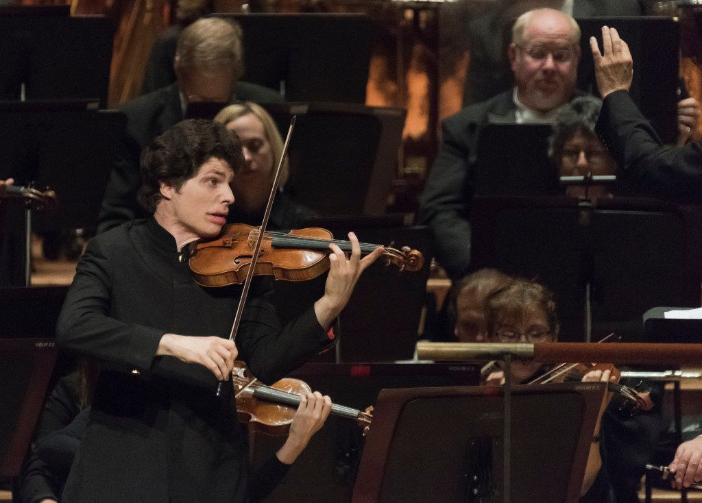 Violinist Augustin Hadelich performs with the Dallas Symphony Orchestra Oct. 13, 2016.   (Rex C. Curry/Special Contributor)