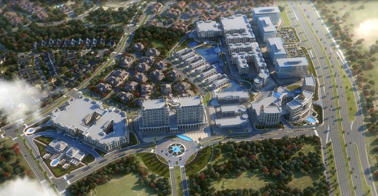 The 40-acre Gate mixed-use project is on the Dallas North Tollway.