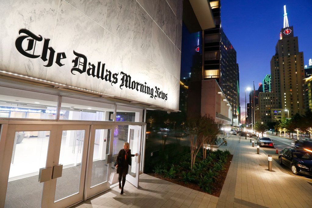 The Dallas Morning News staff works in the Old Dallas Central Library building on Commerce Street.