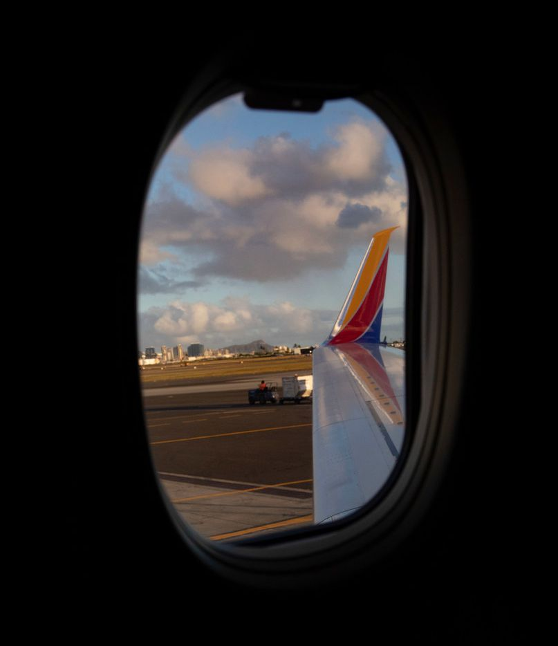Southwest Airlines' first ever flight to the Hawaiian Islands is shown Feb. 5, 2019 at Daniel K. Inouye International Airport.
