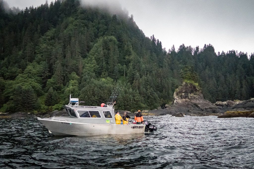 The majestic Pacific Northwest provides the backdrop for fishing excursions at Waterfall Resort.