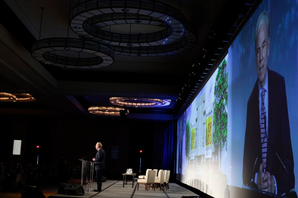 Former Dallas Cowboys quarterback Roger Staubach was the guest speaker at the Top 100 Place to Work luncheon at the Dallas Omni Hotel on Friday, November 17, 2016 in Dallas, Texas. (David Woo/The Dallas Morning News)