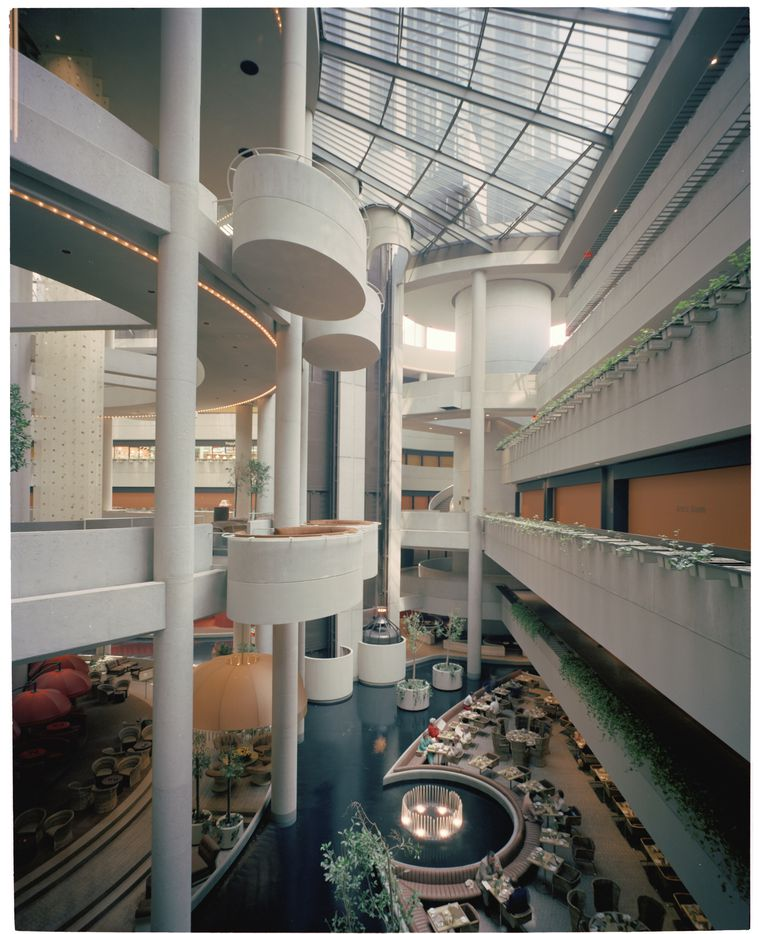Thom captures the dizzying spaces on the interior of John Portman's 1977 Hotel Bonaventure, a favorite of Hollywood directors and fans of architectural complexity alike.