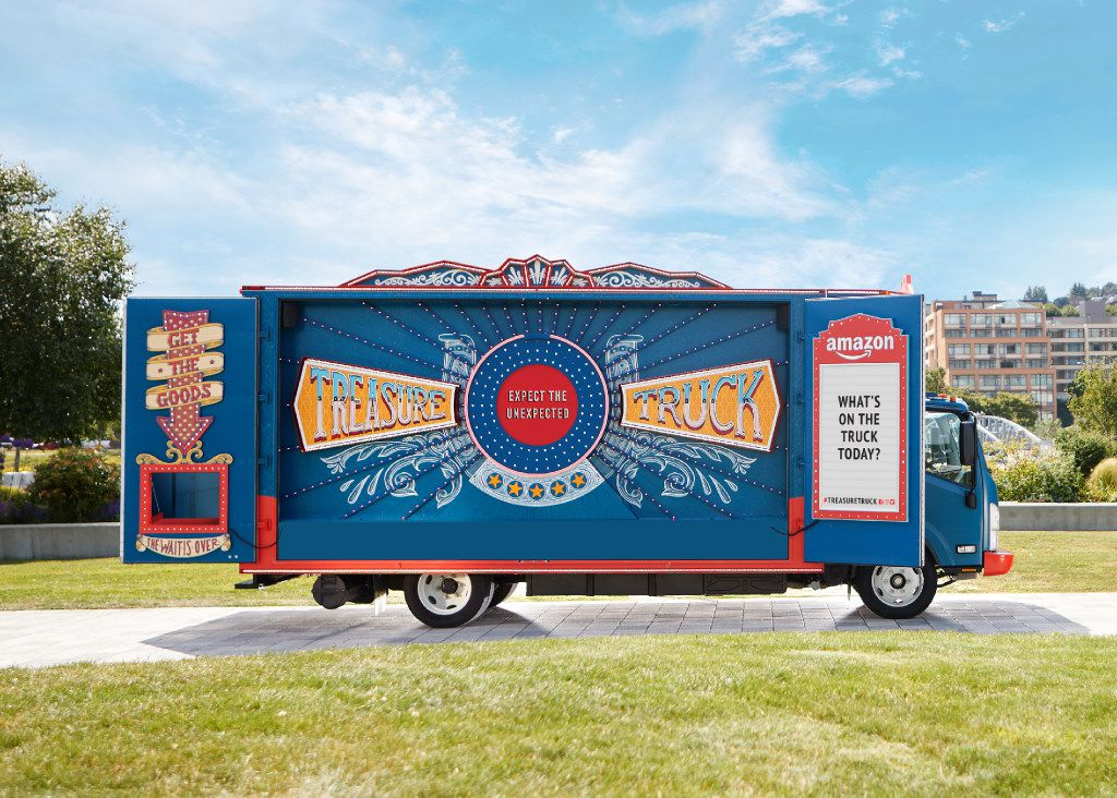 Amazon.com's Treasure Truck launched last year in the e-commerce giant's headquarters city of Seattle. (Amazon.com)
