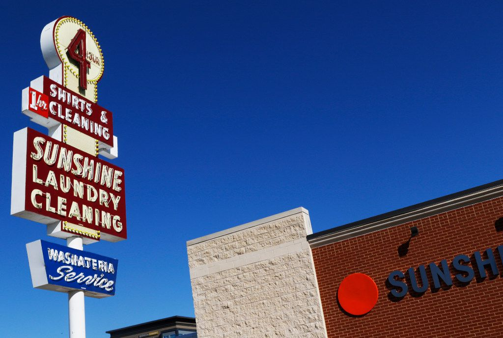 Sunshine Dry Cleaners, celebrating 75 years of being in business in Dallas. (David Woo/The Dallas Morning News)