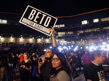 People file into Southwest University Park baseball stadium in El Paso, Texas to see U.S. Senate candidate Rep. Beto O'Rourke (D-TX) during his election party, Tuesday, November 6, 2018. O'Rourke lost to Sen. Ted Cruz (R-TX) in a close race for the U.S. Senate seat.