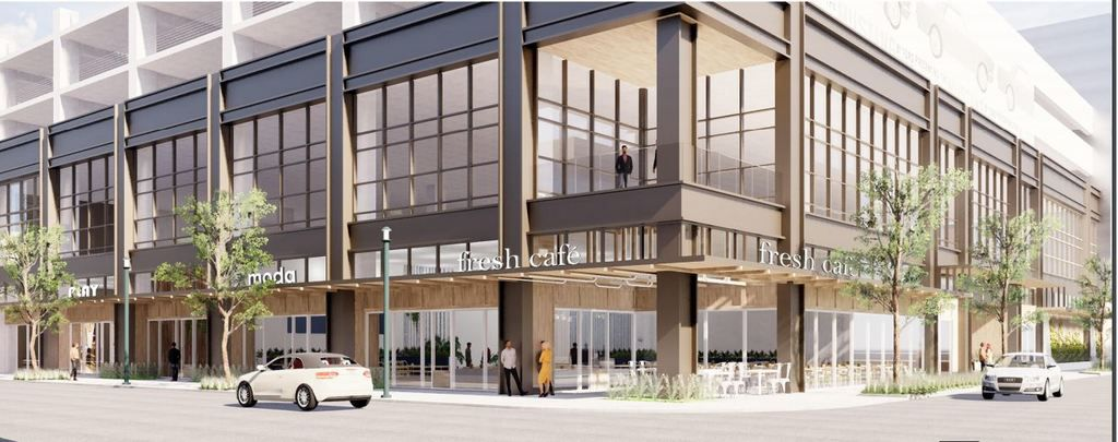 The Shops at Park Lane is planning to renovate the two-level former Dick's Sporting Goods space. The work will include a complete re-skin of the exterior to look more like the building added four years ago just north of it. Northwood Retail said it will create a flexible multi-tenant space.