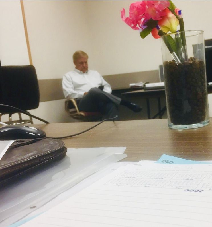 One of the leaders of the Tarrant Appraisal District, Randy Armstrong, sat quietly in a far corner of Watchdog Dave Lieber's 2018 tax protest hearing. Armstrong wears two hats — now declared a conflict in state law. Armstrong is a tax appraiser supervisor and also a school board president.