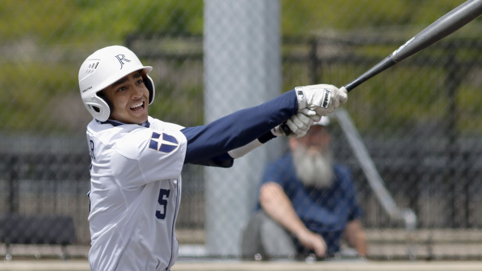 Jesuit shortstop Jordan Lawlar swings for a pitch during a district 7-6A game against Richardson at Jesuit College Preparatory in Dallas, Saturday, April 24, 2021.