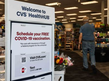 CVS on West Campbell Road offers free COVID-19 vaccination in Richardson on Thursday, August 5, 2021.