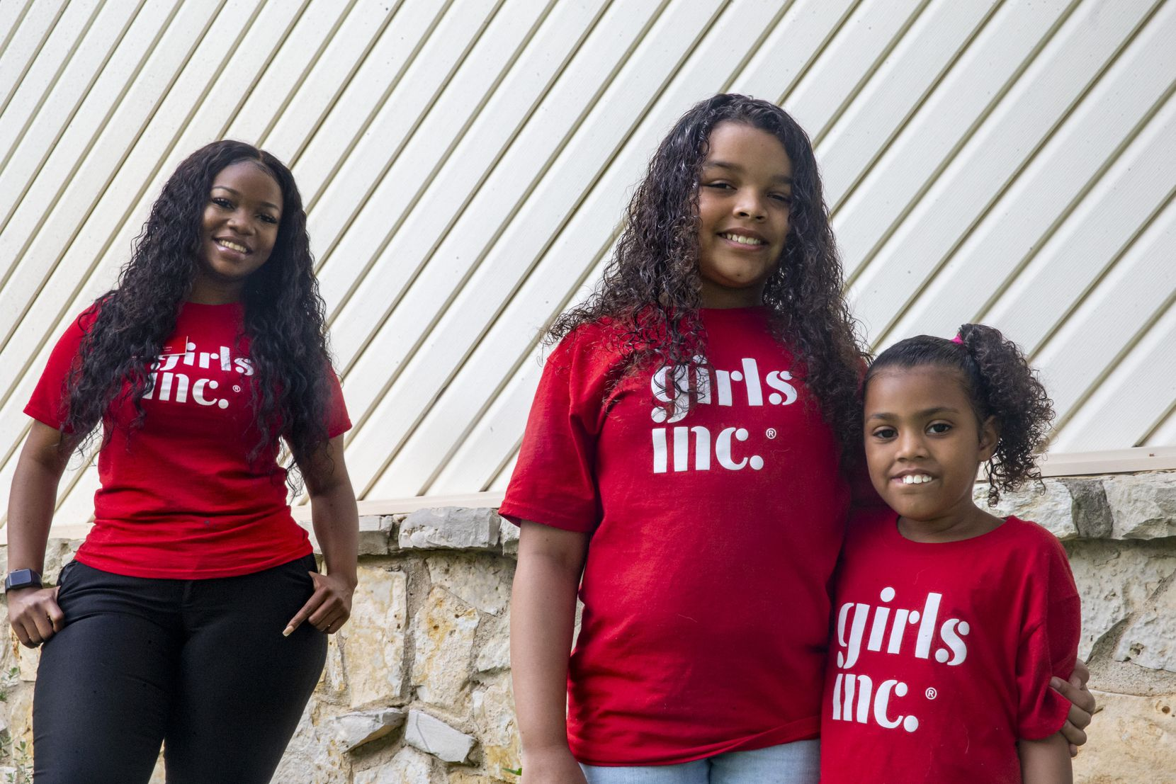 Girls Inc. program facilitator Natalie Cain (left) has continued to tutor sisters Aubrey Mendez (center), 10, and Destini King, 7, through the COVID-19 pandemic.