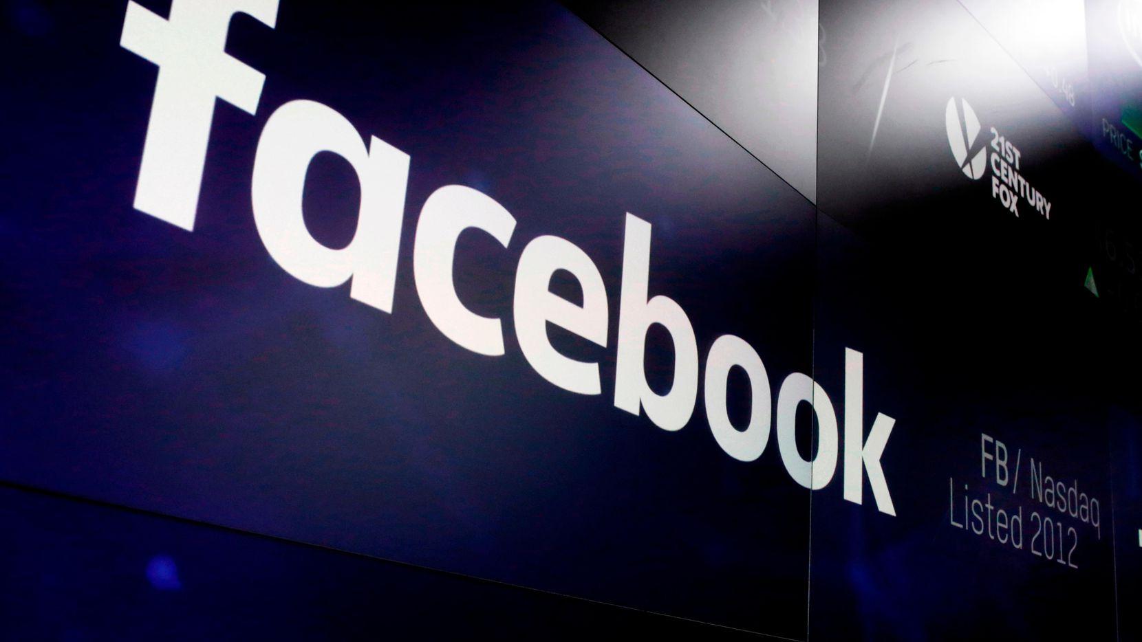 El logotipo de la red social Facebook. (AP/Richard Drew)