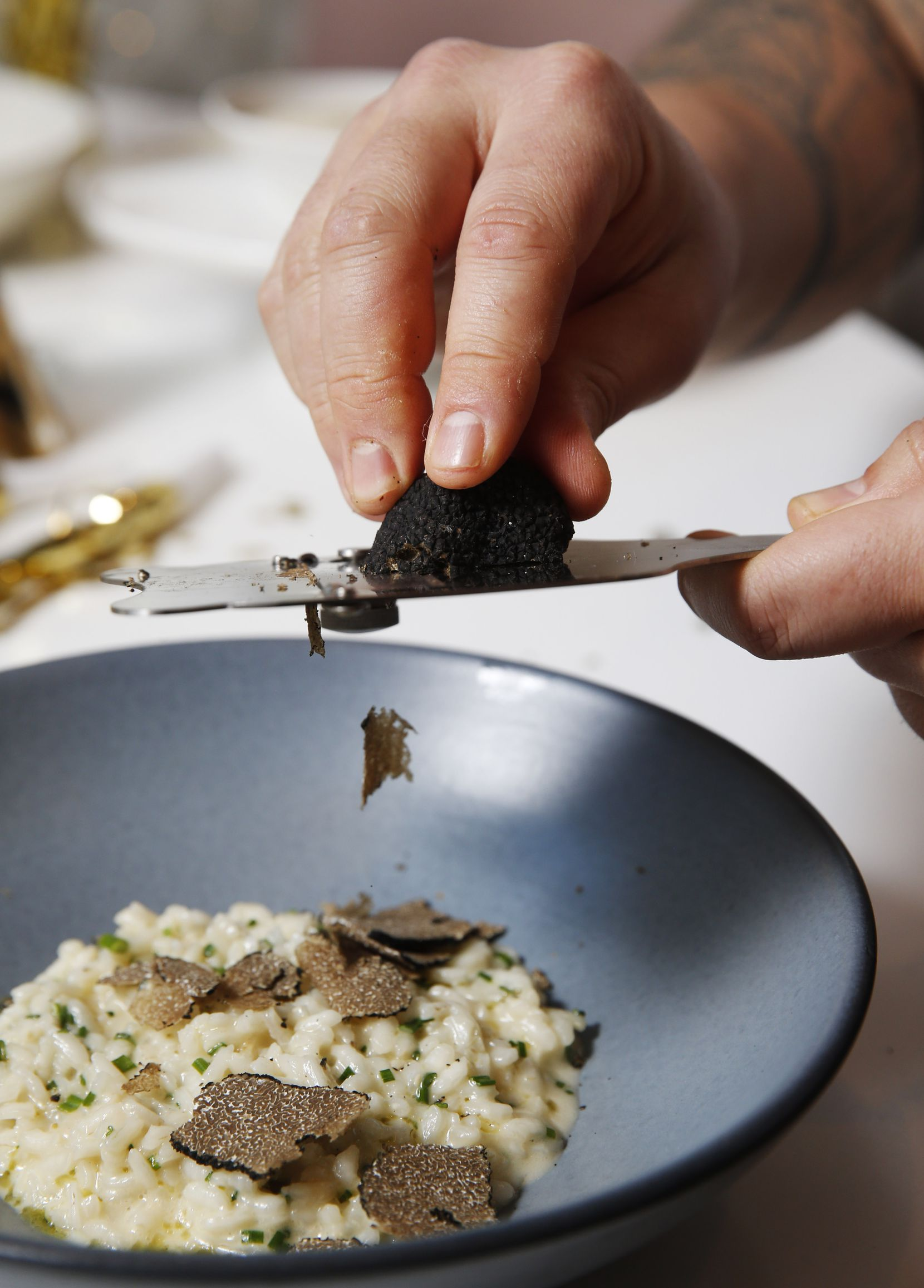 Winter black truffle risotto is one of the add-on courses for New Year's Eve dinner from Sloane's Corner in Dallas.