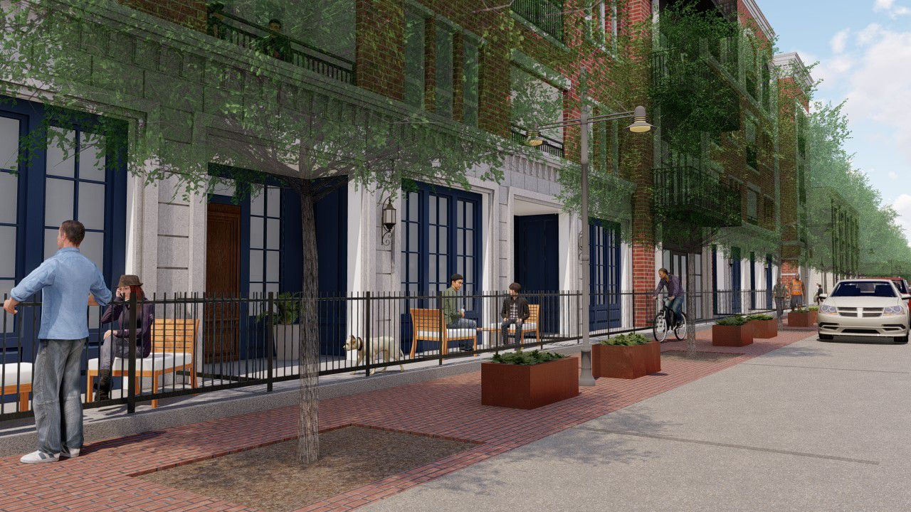 The apartments will be done in architecture compatible with Grapevine's historic buildings.