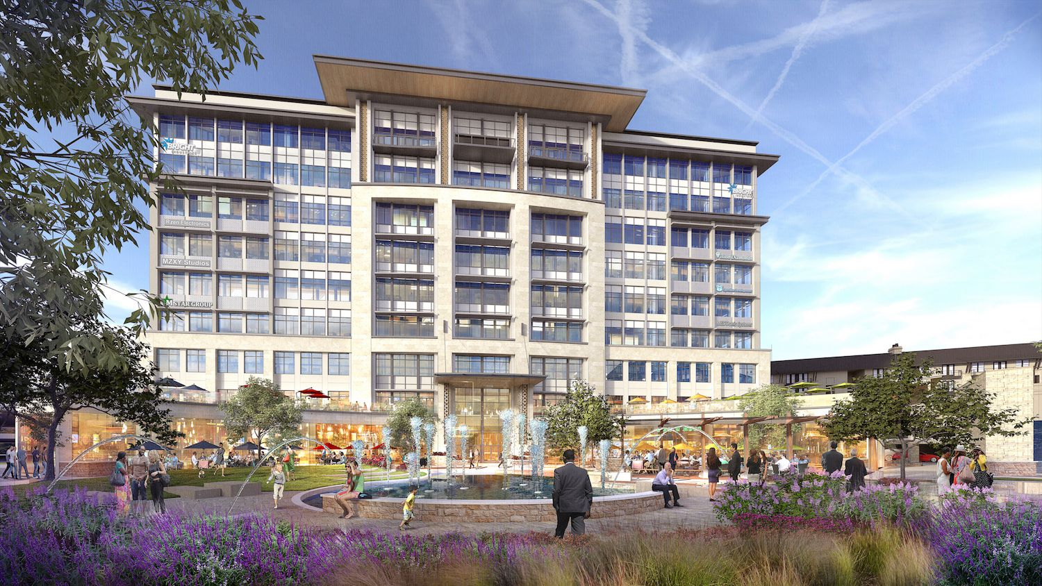 The first phase of the development will include a nine-story office and retail building.