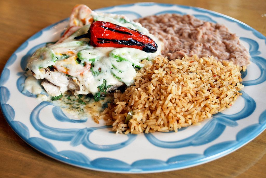 The Cilantro Jalapeño Chicken at Lupe Tortilla Restaurant in Irving, Texas