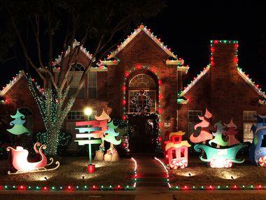 Christmas lights in the Deerfield neighborhood in Plano, Texas on Wednesday, November 28, 2012.