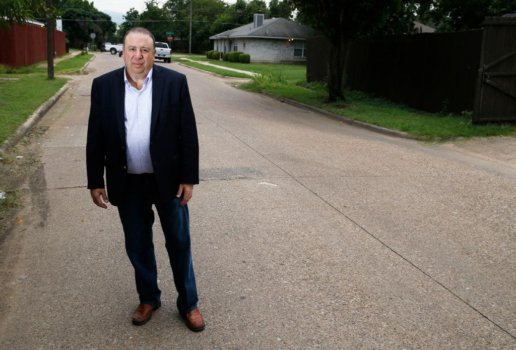 Judge Rick Magnis, on Puget Street in West Dallas, believes Spencer was wrongly convicted in the death of Jeffrey Young.