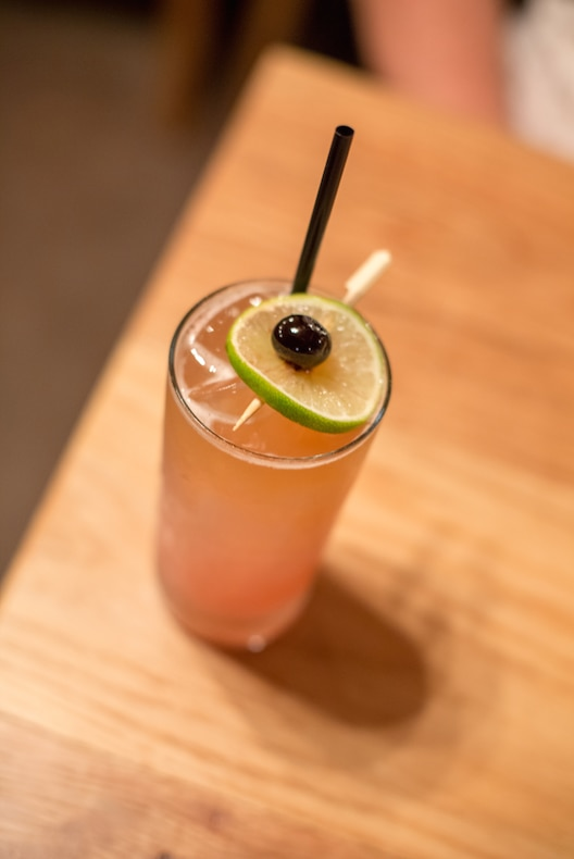 The Lacy, a tequila-beer cocktail made with an IPA.